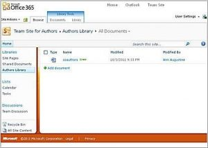 Select New Document Library from Site Actions