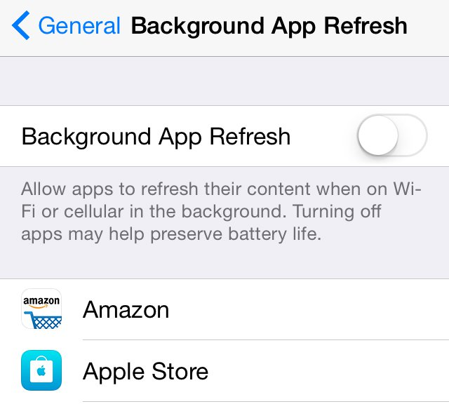 How to speed up a slow iPhone: Background app refresh