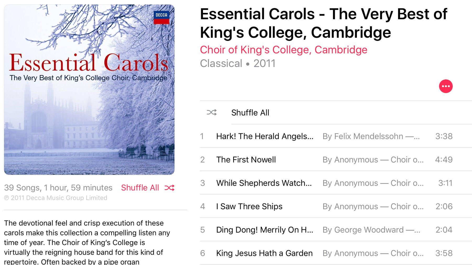Best Christmas music on Apple Music: Essential Carols