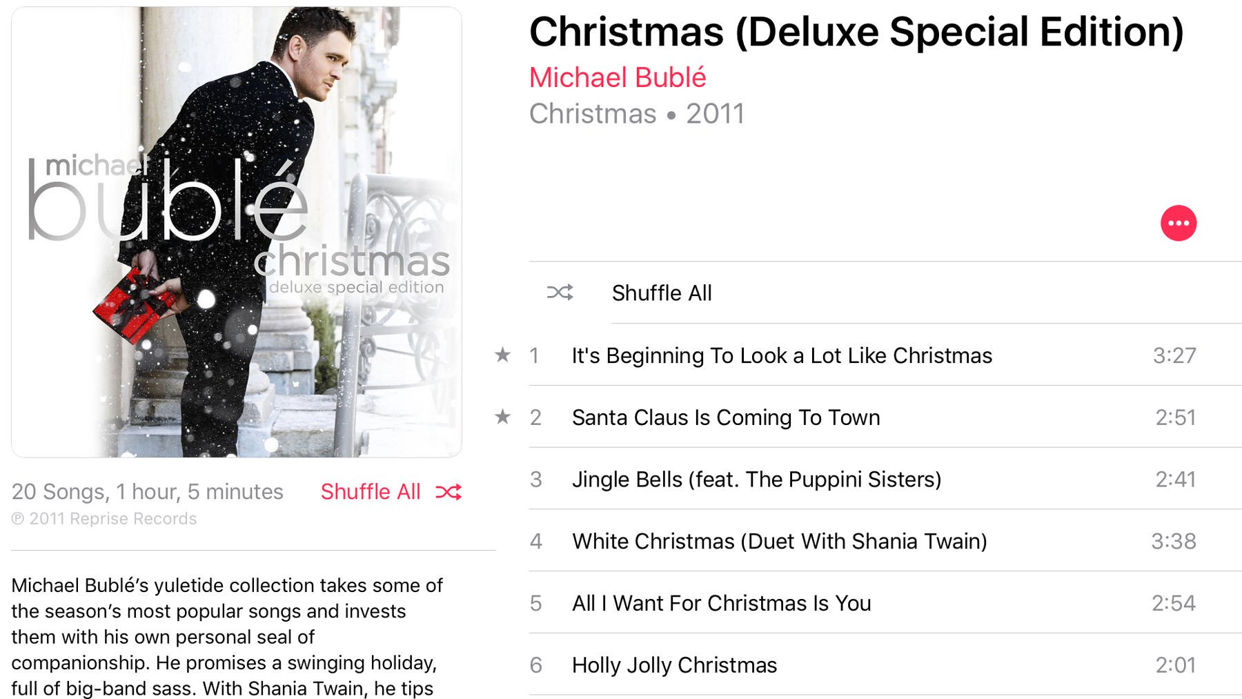 Best Christmas music on Apple Music: Michael Buble