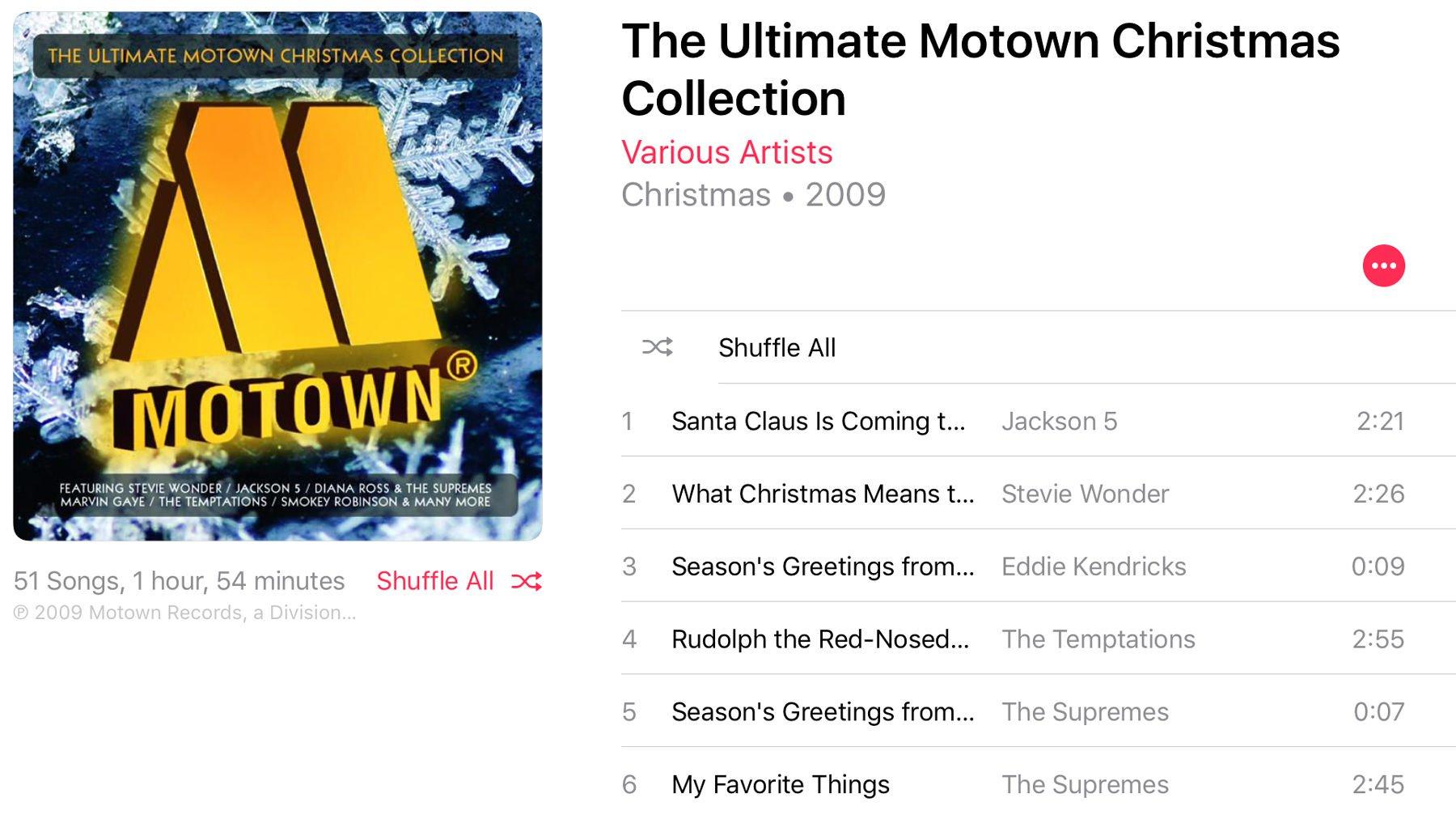 Best Christmas music on Apple Music: Motown