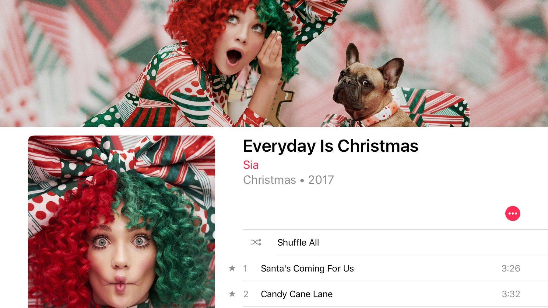 Best Christmas music on Apple Music: Sia