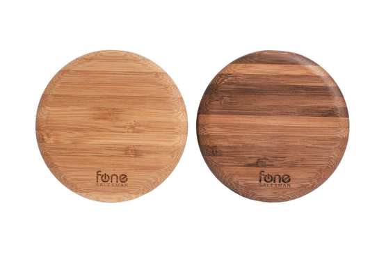 WoodPuck: Bamboo Edition Qi Wireless Charger
