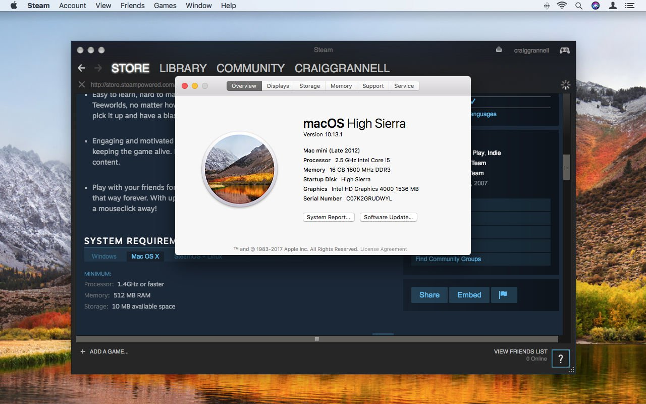 How to use Steam on Mac: System requirements