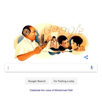Google remembers Mohammed Rafi on 93rd birthday