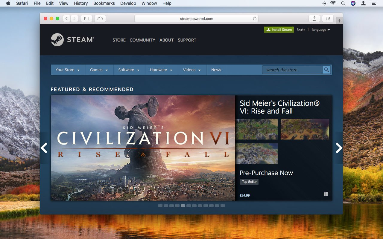 How to use Steam on Mac