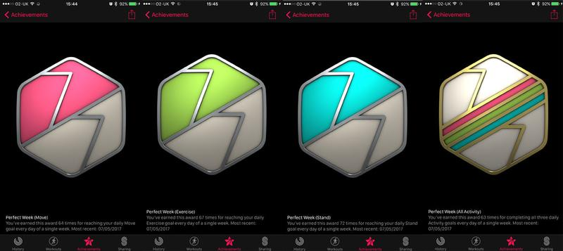 How to get every Apple Watch Activity achievement badge: Perfect Week