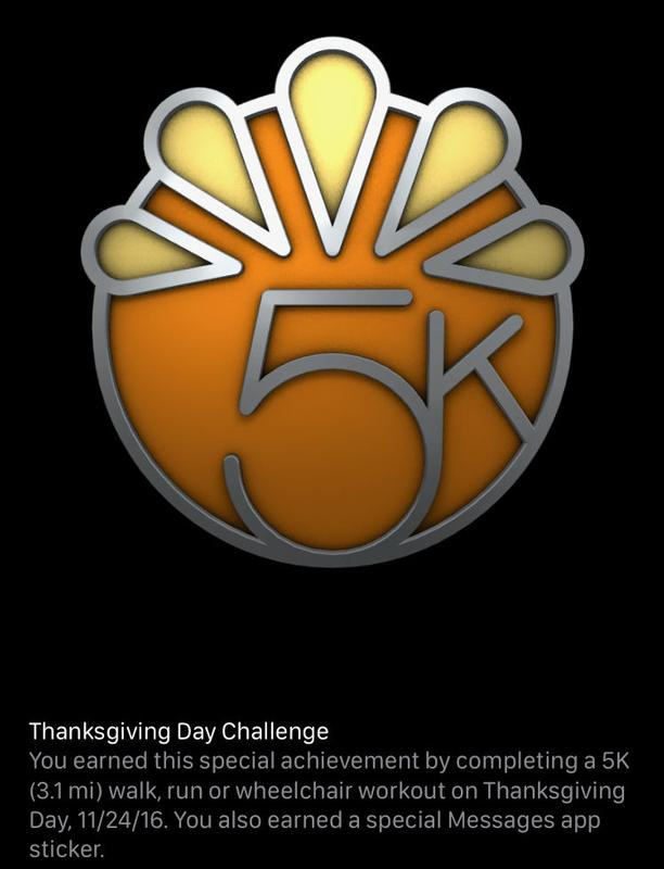 How to get every Apple Watch Activity achievement badge: Thanksgiving Challenge