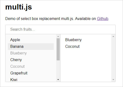 Multi.js select plugin